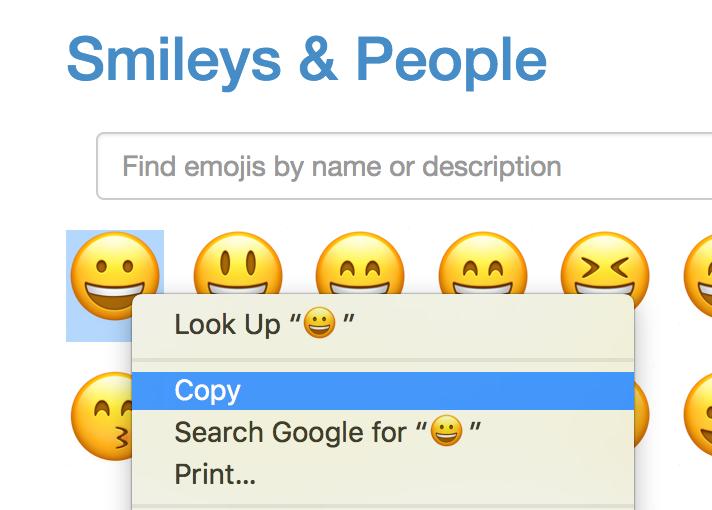 get emoji